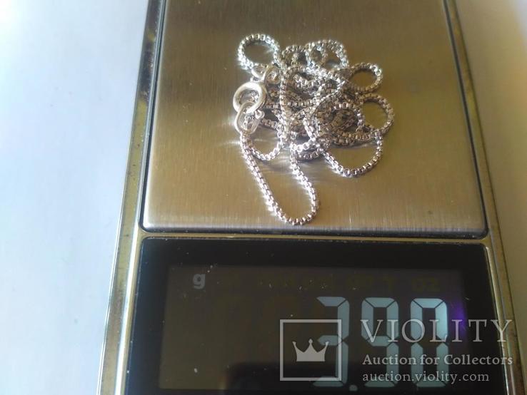 Цепочка ( 65 см.) серебро, фото №6
