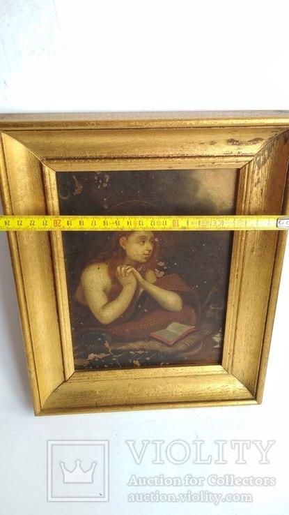 Старинная картина на медной пластине., фото №3