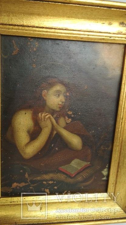 Старинная картина на медной пластине., фото №8