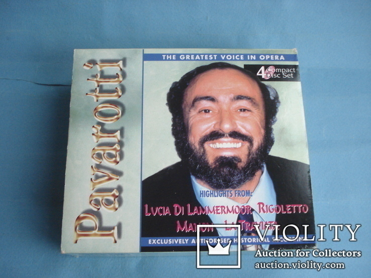 Паваротти (Pavarotti 4 Compact Disc Set) Великобритания, фото №2