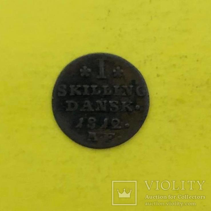 Данія 1 скіллінг, 1812р., фото №2