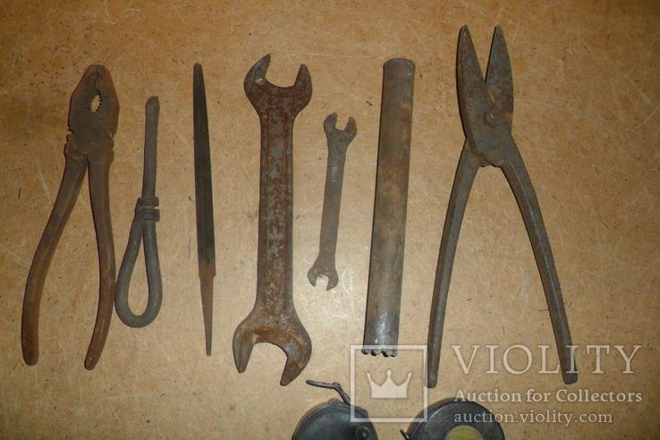 Плоскогубцы пассатижи ножницы по металлу ключ рулетка напильник и др., фото №7