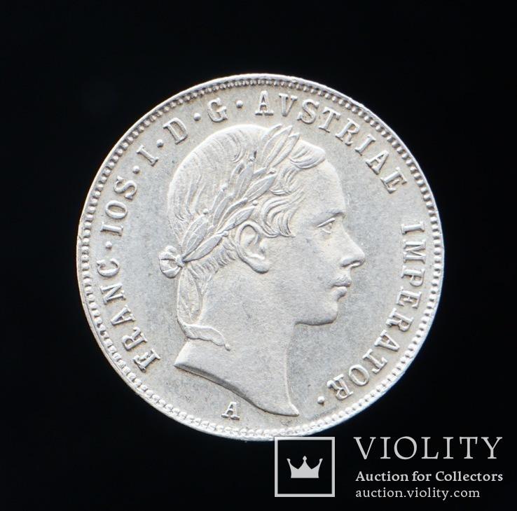 20 Крейцеров 1856 А, Австрия, фото №3