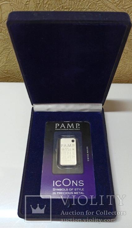 Швейцария, банковский номерной слиток, серебро 10 гр., коробка, сертификат, 646, фото №2