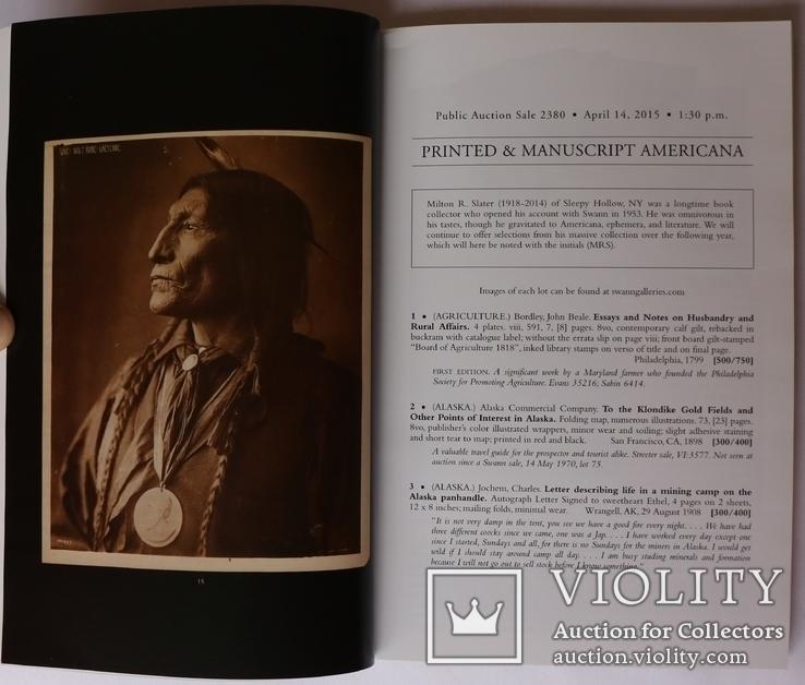 """Swann. Printed and Manuscript Americana"" (2015). Каталог аукціону, фото №4"