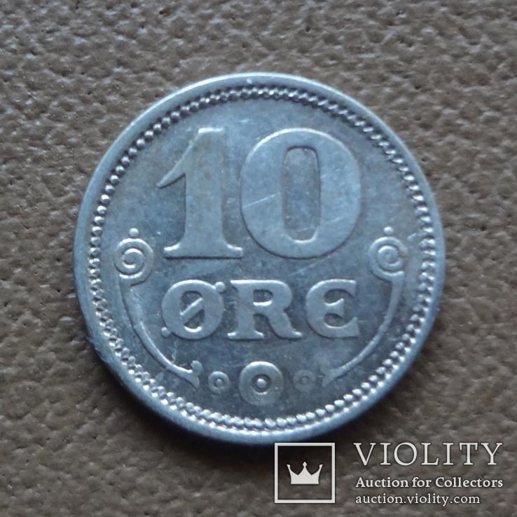 10 эре 1918 Дания серебро (П.4.2), фото №2