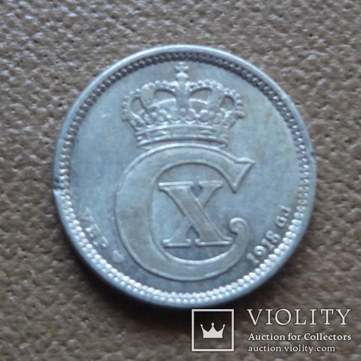 10 эре 1918 Дания серебро (П.4.2), фото №3