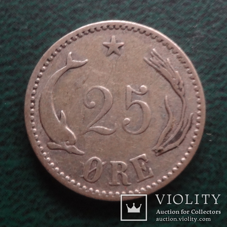 25 эре 1904 Дания серебро (,10.1.17)~, фото №2