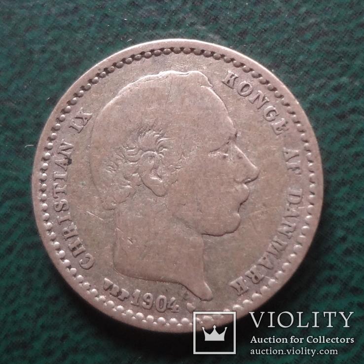 25 эре 1904 Дания серебро (,10.1.17)~, фото №4