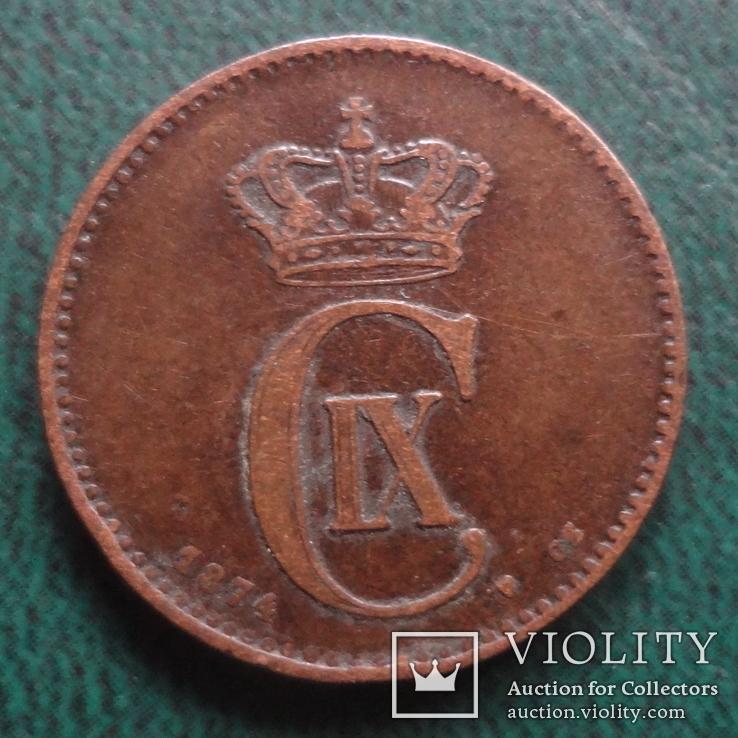 2 эре 1874    Дания    (,10.1.25)~, фото №3