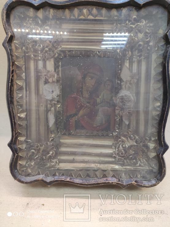 Богородица в фигурном киоте. 31х36см., фото №7