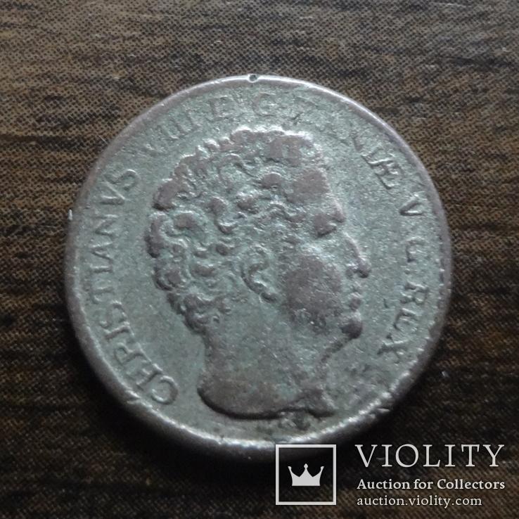 3 ригсбанкскиллинга 1842 Дания серебро (Л.8.6)~, фото №2