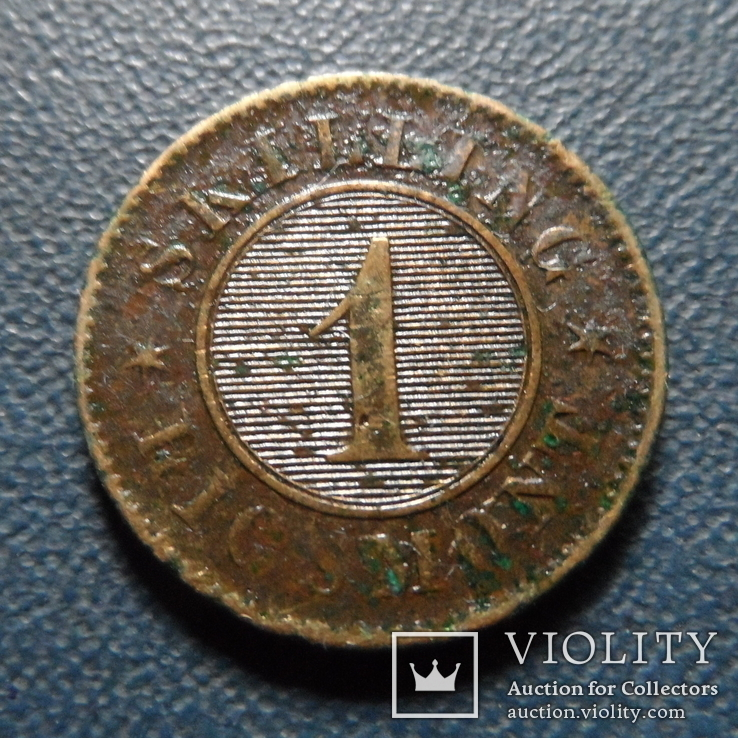 1 скиллинг 1863   Дания   (Г.3.9), фото №5