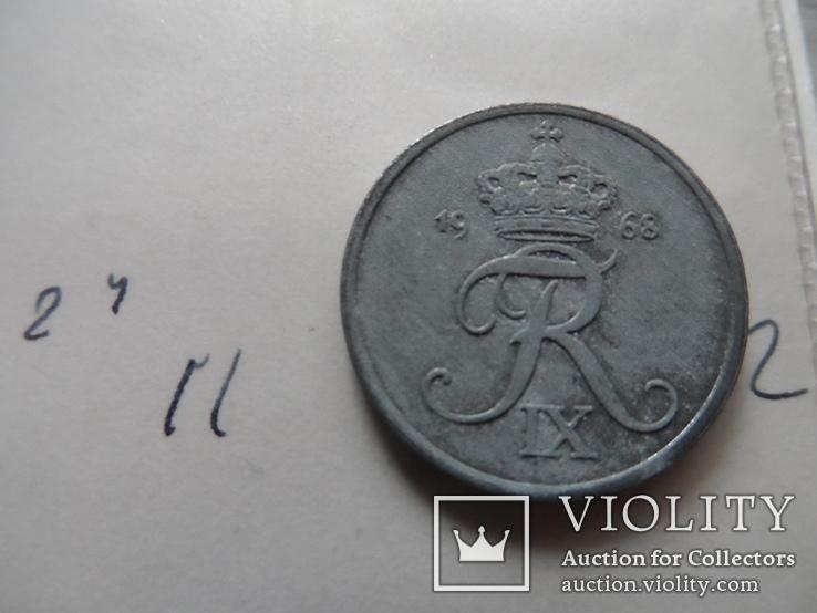 2 эре 1968 Дания  (Н.24.11)~, фото №4