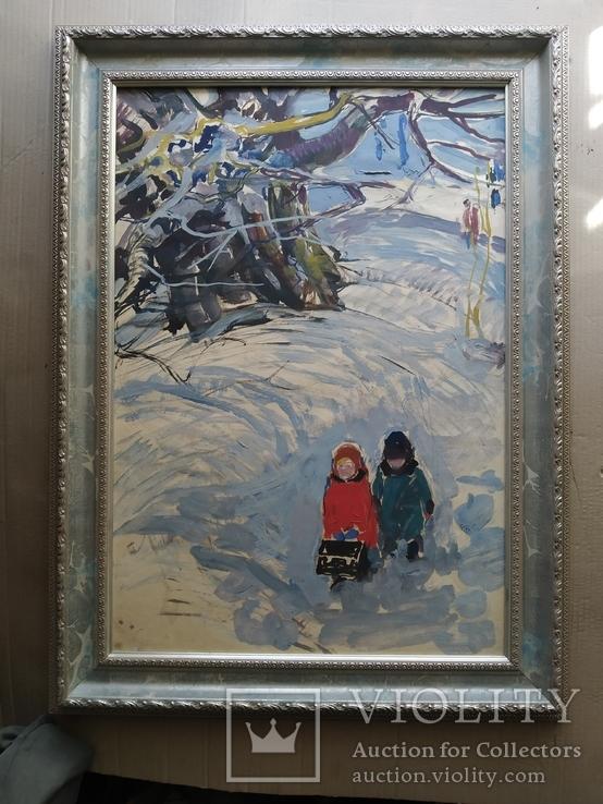 """""""Дети' к.м. 1970 г. Михаил Кошель, фото №2"""