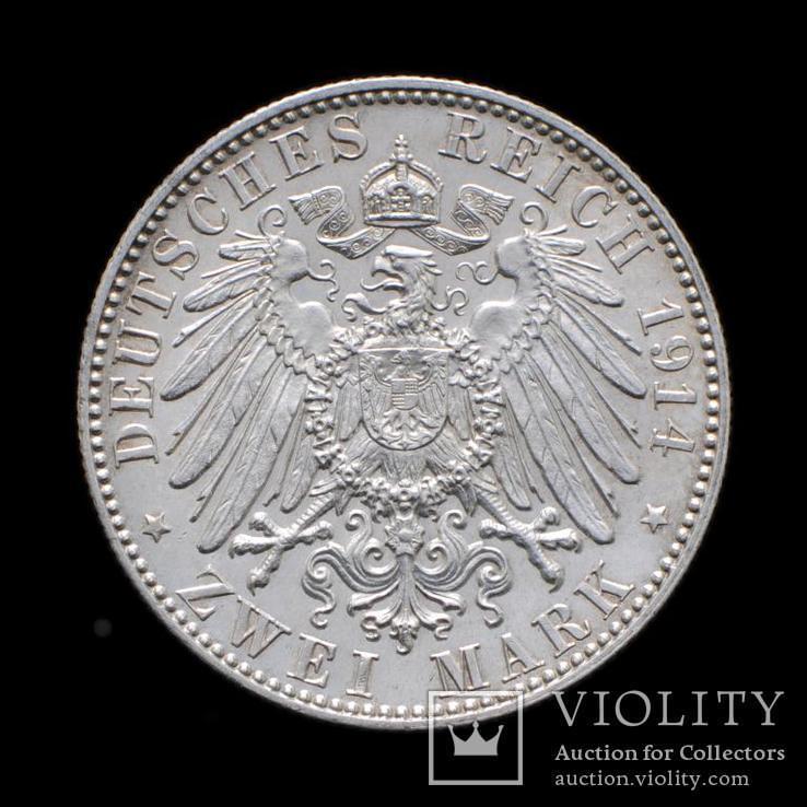 2 Марки 1914 Фридрих Август, Саксония UNC, фото №3