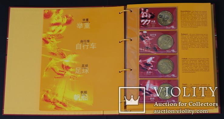 10 Юань 2008 Полный Набор Олимпиада 40шт., Китай UNC, фото №5