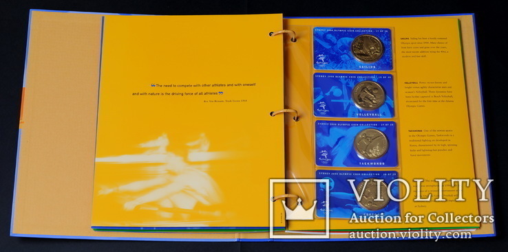 Набор 5 Долларов 2000 Олимпиада 28 Штук, Австралия, фото №9