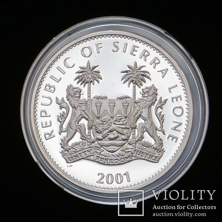 10 Долларов 2001 Леопольд / Большая Африканская Пятерка Сафари, Сьерра Леоне Позолота, фото №3