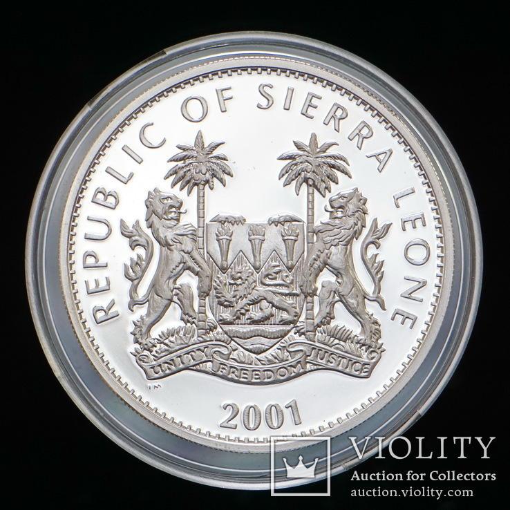 10 Долларов 2001 Буйвол / Большая Африканская Пятерка Сафари, Сьерра Леоне Позолота, фото №3