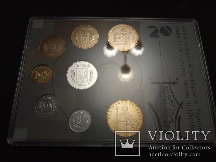 Набор обиходных монет НБУ 2016 / набір обіходних монет UNC, фото №5