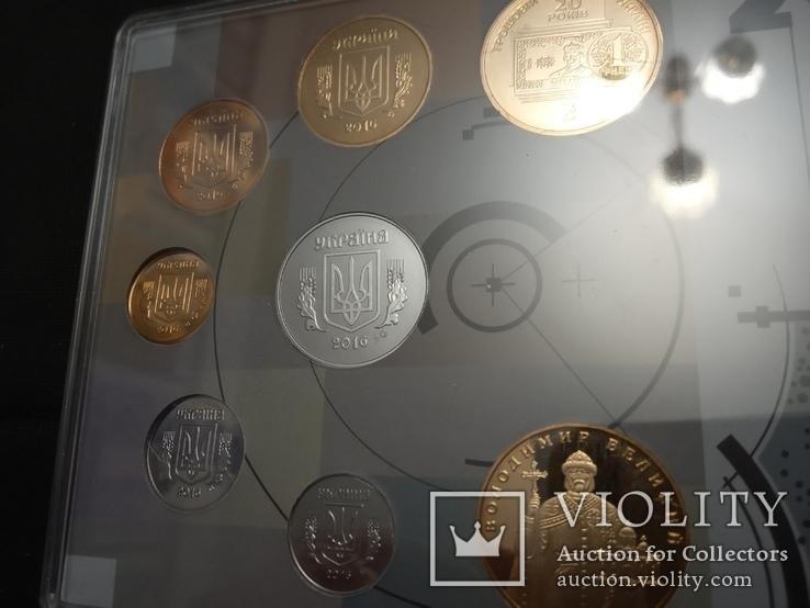 Набор обиходных монет НБУ 2016 / набір обіходних монет UNC, фото №6