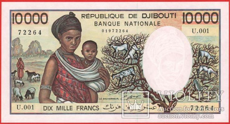 10000 Франков 1984, Джибути UNC, фото №2