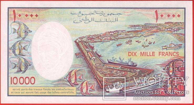 10000 Франков 1984, Джибути UNC, фото №3