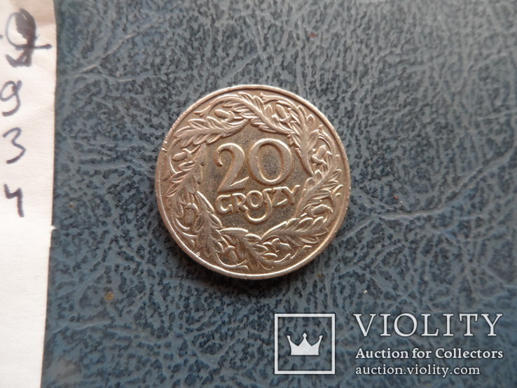 20 грош 1923  Польша   (,9.3.4)~, фото №4
