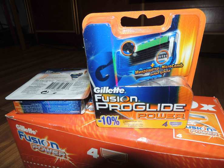 Лезвия Gillette Fusion Proglide Power - 4шт в упаковке, фото №2