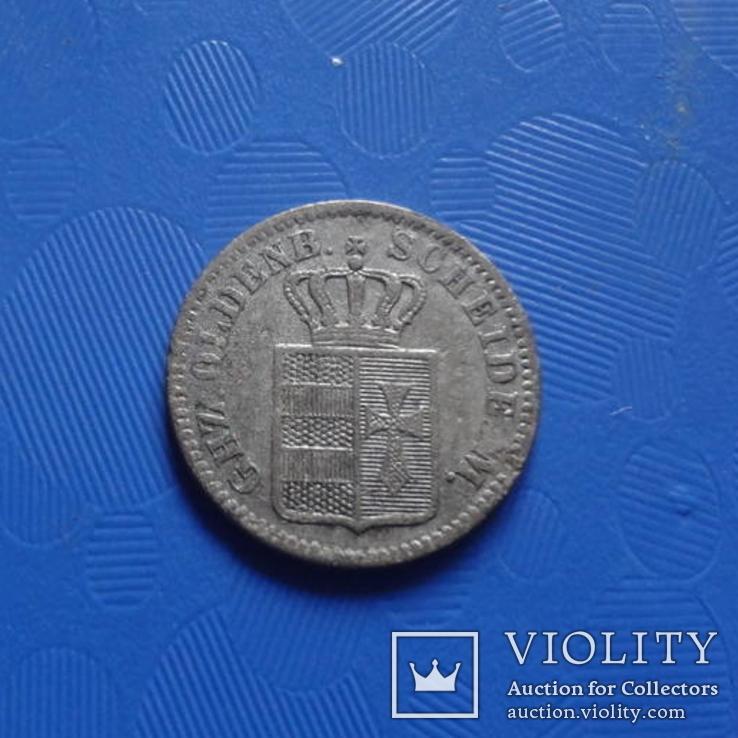 1/2 грошен 1864 Олденбург  серебро   (Х.3.3)~, фото №3
