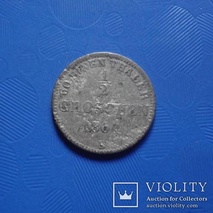 1/2 грошен 1864 Олденбург  серебро   (Х.3.3)~, фото №6