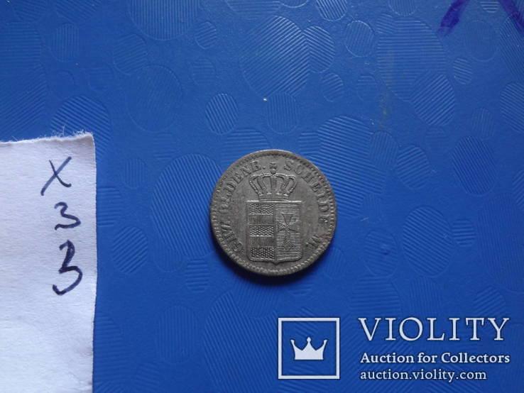 1/2 грошен 1864 Олденбург  серебро   (Х.3.3)~, фото №7