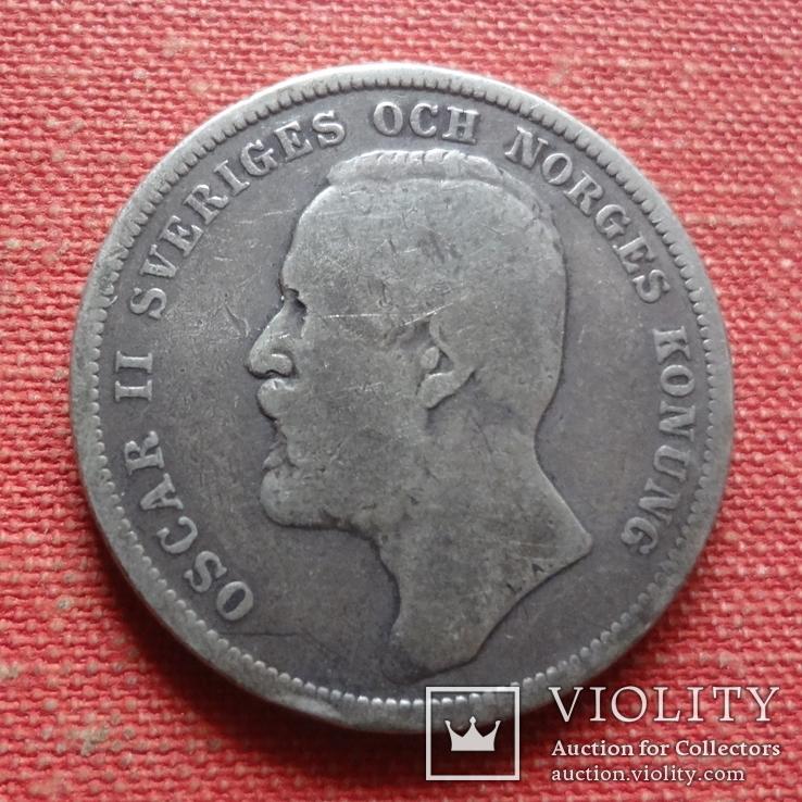 1 крона 1903  Швеция  серебро    (Т.5.6)~, фото №3