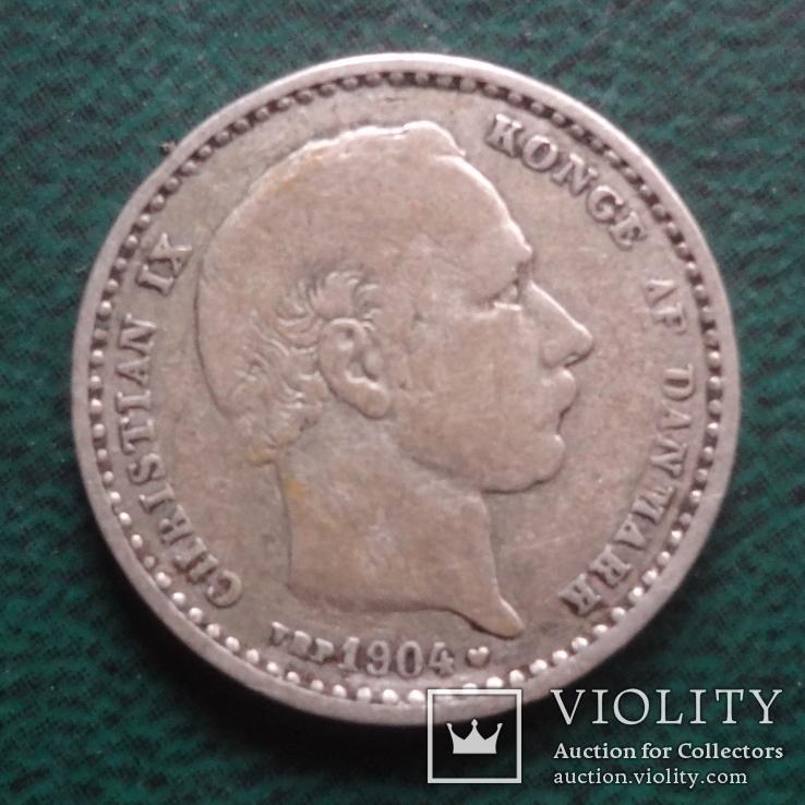 25 эре 1904  Дания серебро   (,10.1.16)~, фото №3