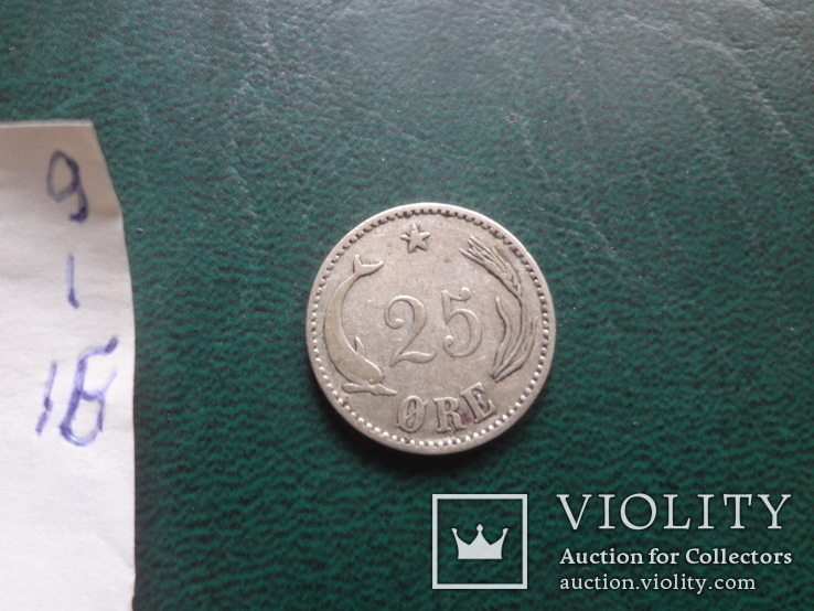25 эре 1904  Дания серебро   (,10.1.16)~, фото №4