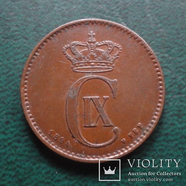 2 эре 1894    Дания    (,10.1.24)~, фото №3