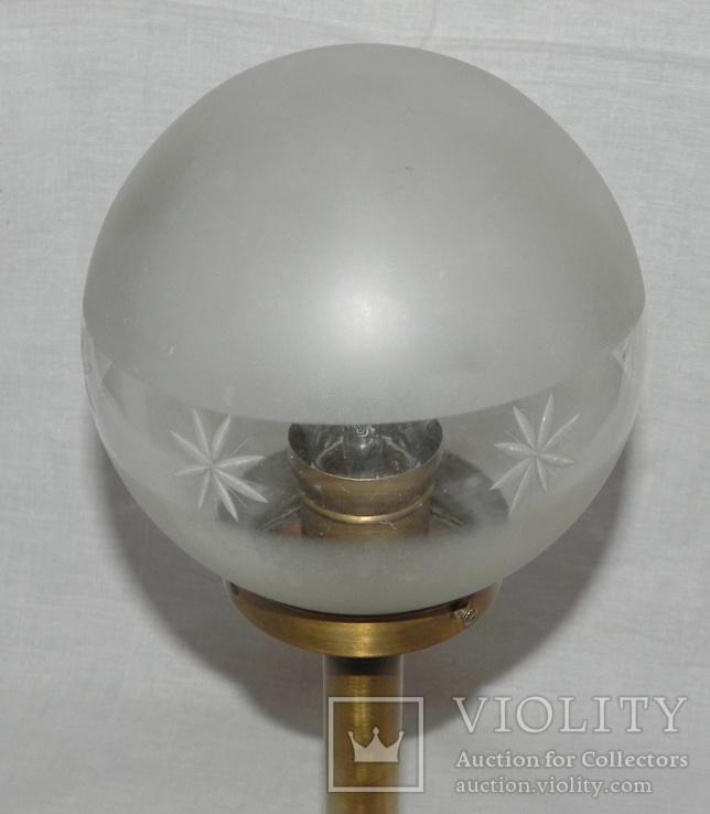 Старый бронзовый светильник, фото №4
