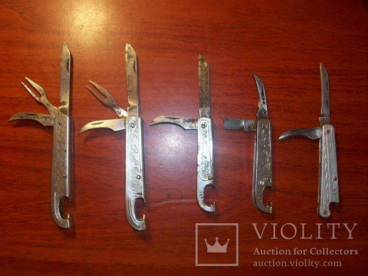 Складной нож нарзанник СССР 5 шт, фото №2