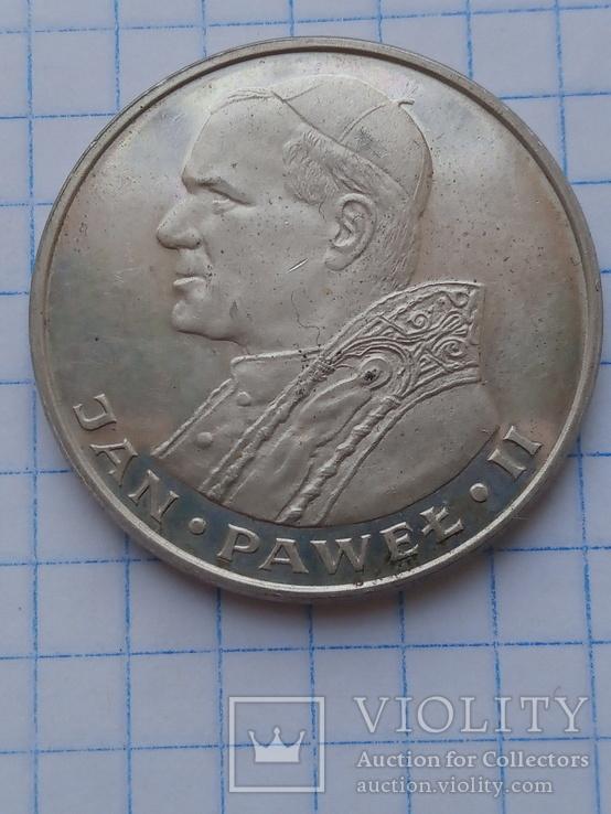 1000 злотых 1982 год серебро, фото №2
