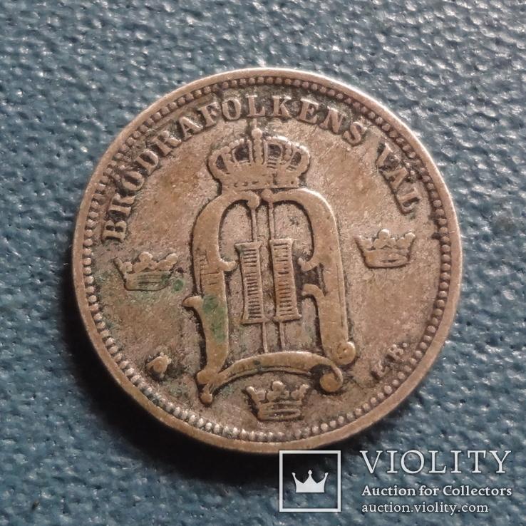 10 эре 1899  Швеция  серебро   (Z.3.5)~, фото №2