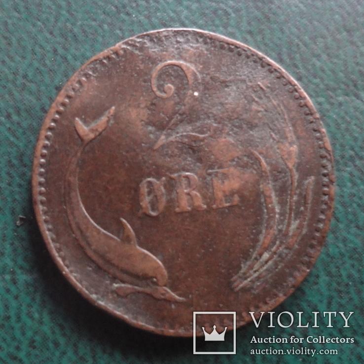 2 эре 1886    Дания    (,10.1.26)~, фото №2