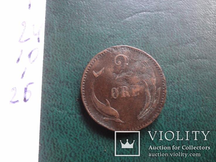 2 эре 1886    Дания    (,10.1.26)~, фото №4