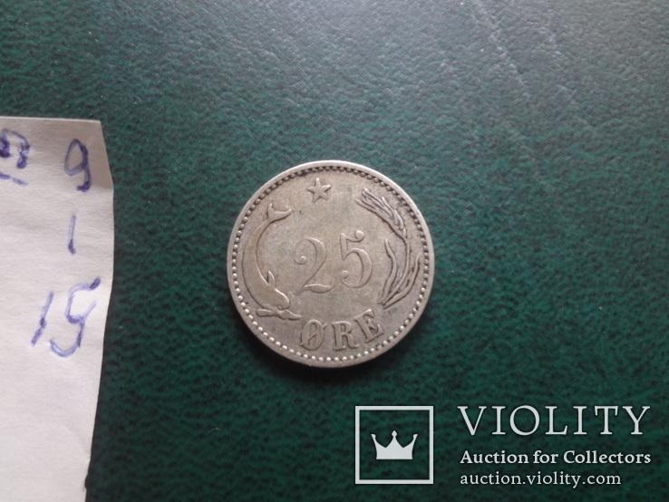 25 эре 1905  Дания серебро   (,10.1.15)~, фото №4