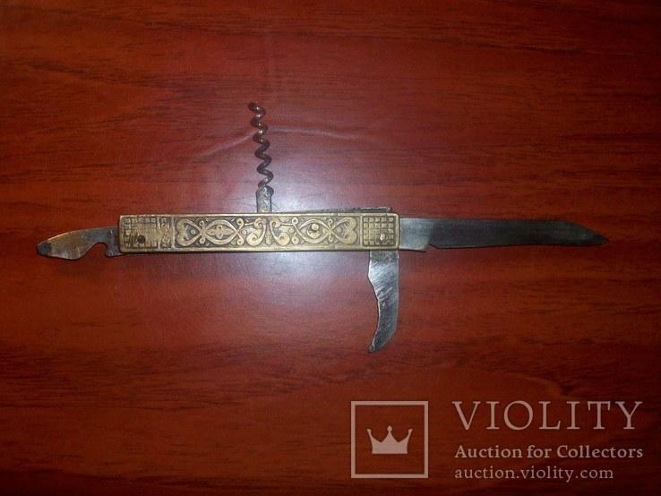 Складной латунный нож Дывыыдково СССР, фото №3