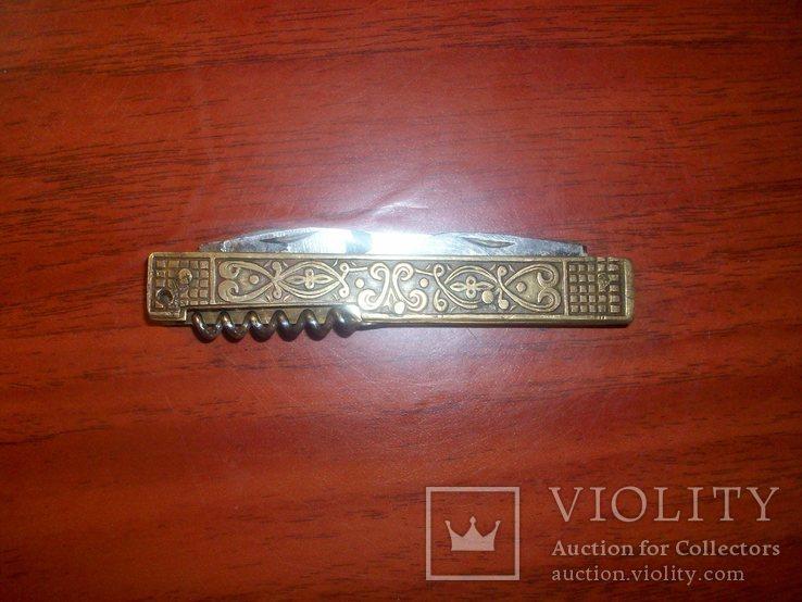 Складной латунный нож Дывыыдково СССР, фото №6