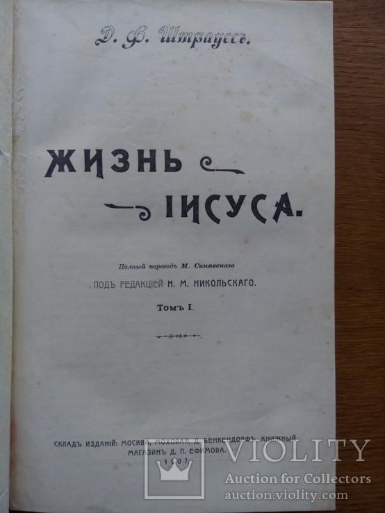 Жизнь Иисуса 1907 Штраусс Д., фото №4