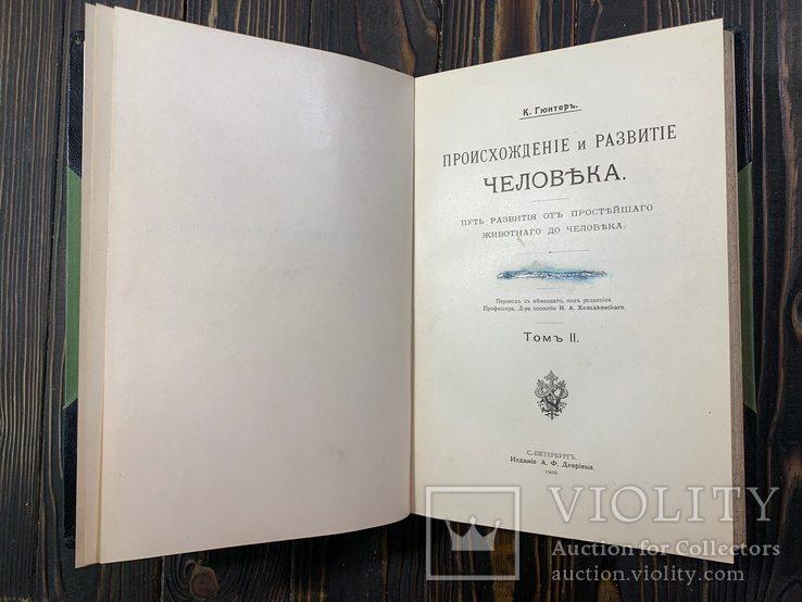 1909 Гюнтер, К. Происхождение и развитие человека, фото №8