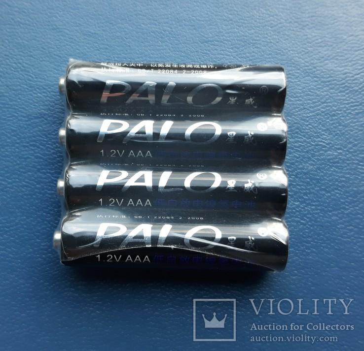 Аккумуляторы PALO тип AAA, Ni-Mh 1100mAh Мизинчиковые (4шт), фото №3