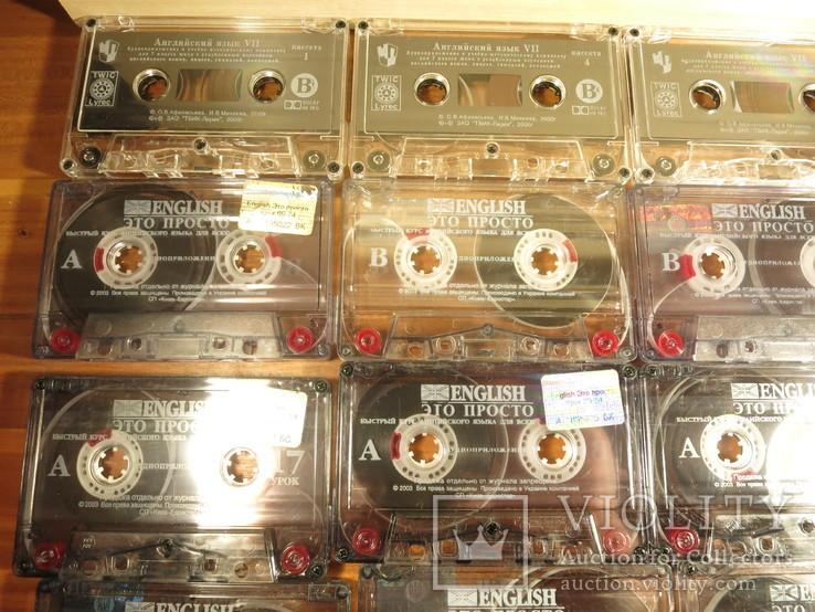Аудиокассеты импортные б.у 25 шт.самоучитель английского языка, фото №3